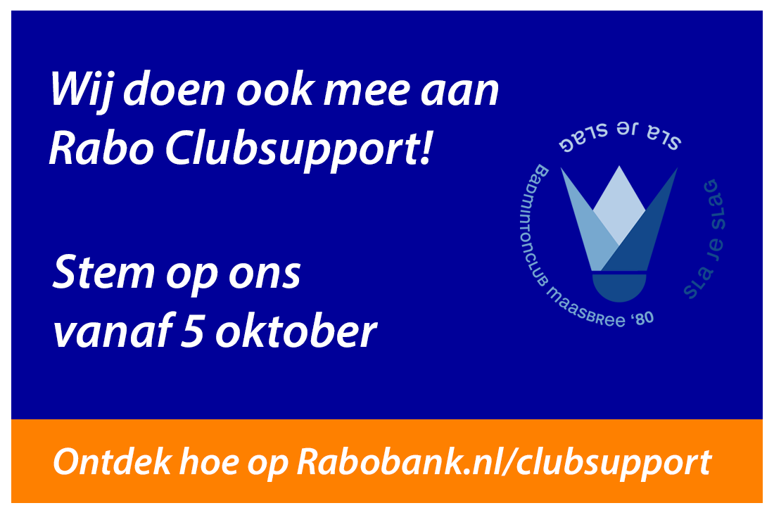 Stem op BCM'80 - Rabo Clubsupport 2020
