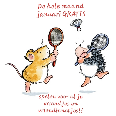 In januari gratis badmintonnen